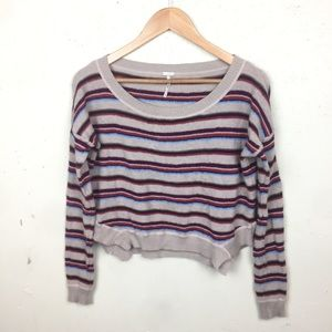FP Beach Striped Wool Blend Sweater Small